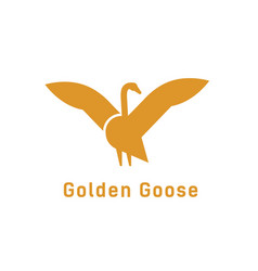 creative logotype with silhouette goose logo vector image