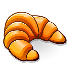 Croissant design drawing isolated vector