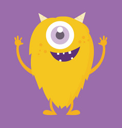 Cute monster cartoon character 001 vector