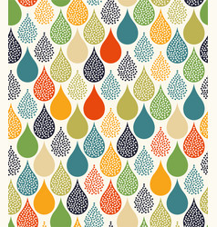 cute water droplet seamless pattern vector image