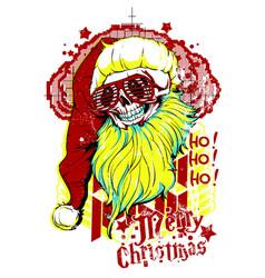 dead santa vector image