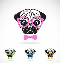 Dog glasses vector image