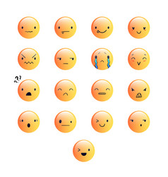 Emoticons round yellow 8 vector