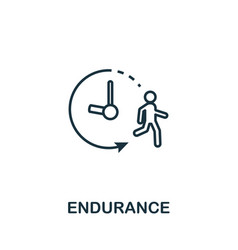 Endurance icon thin outline style design from vector