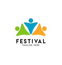 Festival logo template design vector