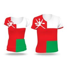 Flag shirt design of Oman vector image