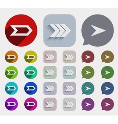 flat arrows icons set vector image
