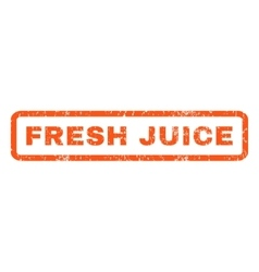 Fresh Juice Rubber Stamp vector image