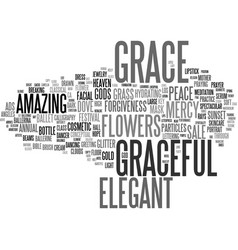 graceful word cloud concept vector image