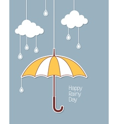 Happy rainy day vector image