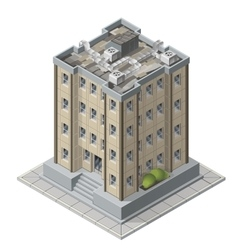 High rises isometric building icons for game vector