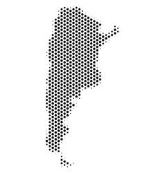 Honeycomb argentina map vector