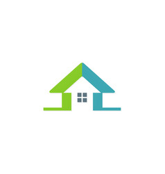 house arrow colored logo vector image