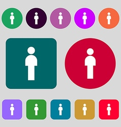 Human sign icon man person symbol male toilet 12 vector