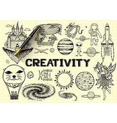 Imagination sketch vector image vector image