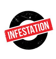 Infestation rubber stamp vector