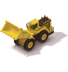 Isometric mining wheel loader vector