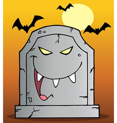 Laughing Tombstone Mascot Cartoon Character vector