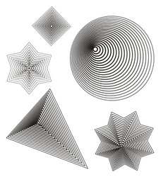Lines shape vector