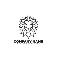 lion line art design template vector image