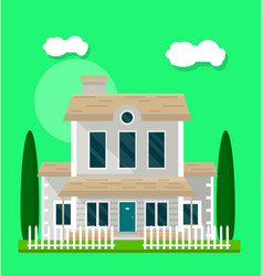 living house exterior vector image