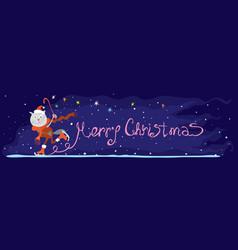 magical merry christmas vector image