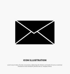 mail email user interface solid glyph icon vector image
