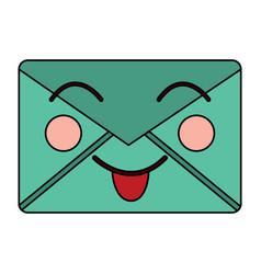 mail envelope kawaii character cartoon vector image