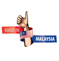 Malaysia flag on a white vector