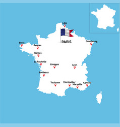 Map france silhouette on background vector