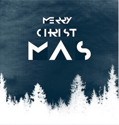 Merry Christmas Postcard design Halftone forest vector image