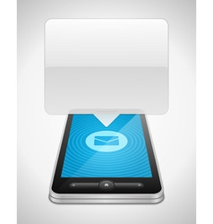 Mobile phone and incoming message icon vector image