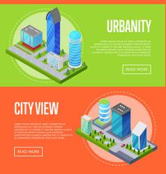 modern urban life banners set vector image