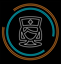 nurse icon medical care hospital symbol vector image