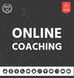 Online coaching icon vector