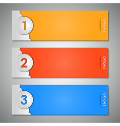 options labels vector image