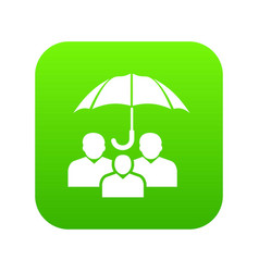 people protection icon green vector image