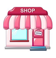 pink street shop icon cartoon style vector image