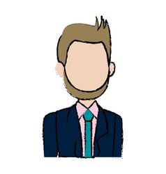 Portrait man politician business cartoon vector