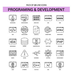 Programming and developement line icon set - 25 vector