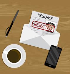 Rejected job concept vector