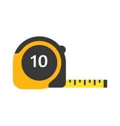 Ruler tool flat icon on white vector