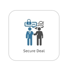 Secure Deal Icon Flat Design vector image