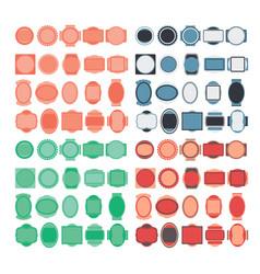 Set badge design elements vector