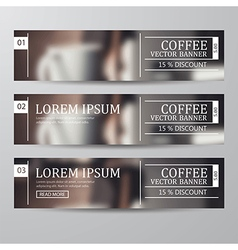 Set of banner coffee vector