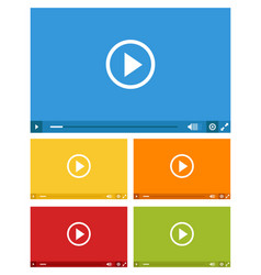 set of web video players vector image