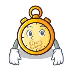 Silent chronometer character cartoon style vector