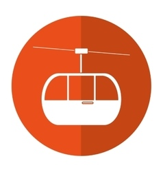 Sky cable car transport mountain shadow vector