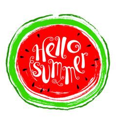 Summer design element with watermelon doodle vector