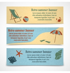Summer vacation banners horizontal vector